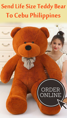 send giant size teddy to Cebu Philippines