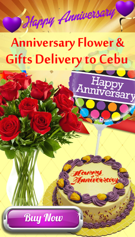 send anniversary flower and gifts to cebu philippines