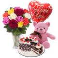 send rose bear balloon with cake to cebu