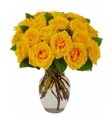 12 yellow rose vase to cebu