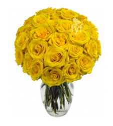 18 yellow roses vase order to cebu