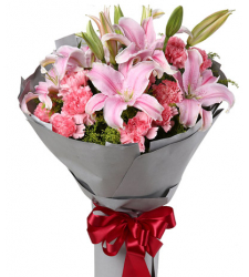 Pink Carnations Pink lily Online Order to Cebu Philippines