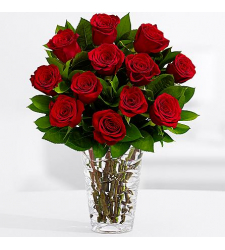 one dozen red rose vase in cebu