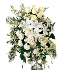Lovely Tribute Funeral Flowers Online Order to Cebu Philippines