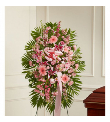 Deepest Sympathies Standing Spray Pink Online Order to Cebu Philippines