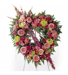Send Eternal Rest Heart Wreath To Cebu