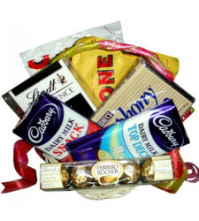 Send Assorted Chocolate Lover Basket to Cebu Philippines