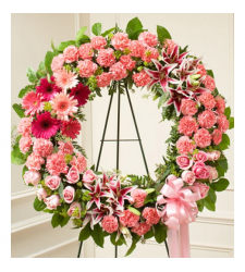 Send Chic Pink Wreath To Cebu