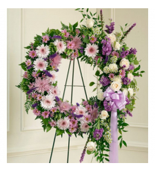 Send Luxurious Purple Wreath To Cebu