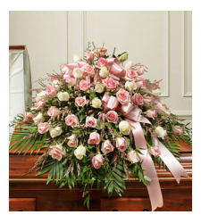 Send Pink Delight Casket Spray To Cebu