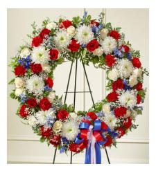 Send South of The Border Patriotic Wreath To Cebu