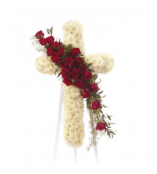 Send Standing Cross Sympathy Spray To Cebu