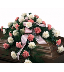Send Cascading Pinks and Whites Casket Spray to Cebu