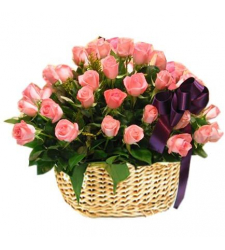 send 36 pink roses in basket to cebu in philippines