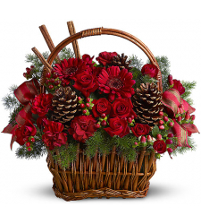 ​Christmas Flowers Basket Send to Cebu City