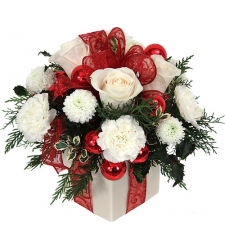 ​White Christmas Flowers Send to Cebu City