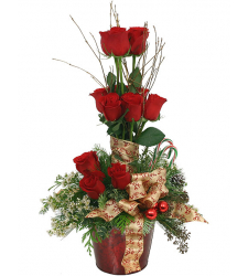 ​Christmas Rose Topiary Send to Cebu City