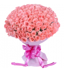 send 100 pcs. pink roses in bouquet to cebu