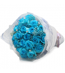 send 24 blue roses hand bouquet to cebu