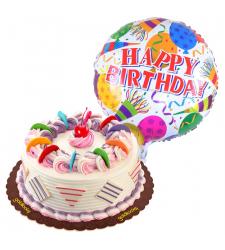 rainbow cake with birthday balloon to cebu