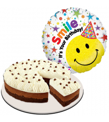 chocolate mousse cake with birthday balloon to cebu