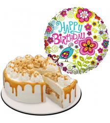 birthday balloon with coffee crunch cake to cebu