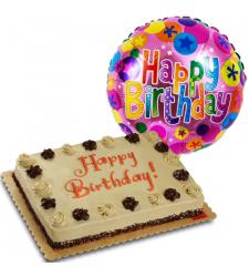mocha dedication cake and birthday balloon to cebu