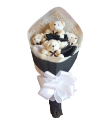 send 4 mini size teddy bear bouquet to cebu