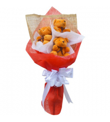 send 3 pcs mini size teddy bear bouquet to cebu