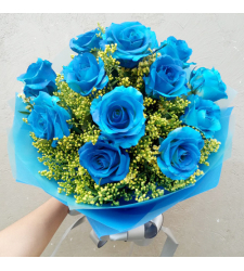 send 12 pcs blue color roses in bouquet to cebu