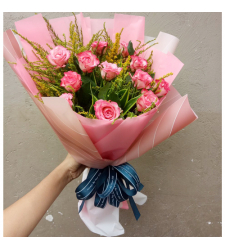 send 12 pcs. pink color roses in bouquet to cebu