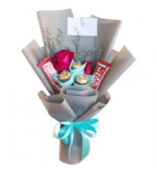 send red roses with chocolate in bouquet to cebu