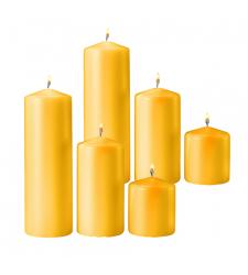 6 pcs yellow candles to Cebu City
