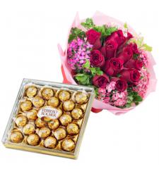 send 12 red roses with ferrero chocolate to cebu