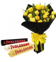 send 24 yellow roses with toblerone chocolate to cebu
