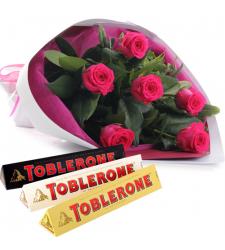 send half dozen pink roses with chocolate to cebu