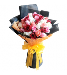 send 50 crystal mixed roses bouquet to cebu