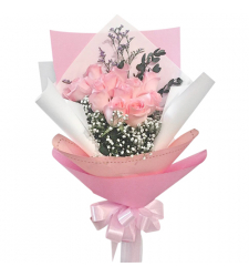 send luxurious 12 pink roses bouquet to philippines