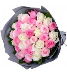36 Mixed Color Roses Bouquet Send to Cebu