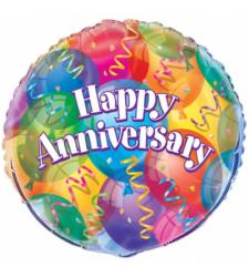 Single Anniversary Mylar Balloon