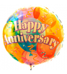 Single Gorgeous Anniversary Mylar Balloon