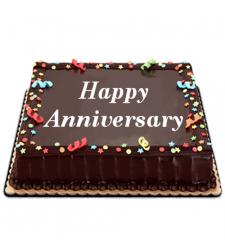 Chocolate Dedication Anniversary Cake by Red Ribbon