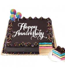 Anniversary Rainbow Dedication Cake by Red Ribbon