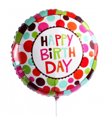 Single Pc. Happy Birthday Mylar Balloon
