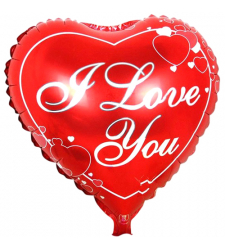 1 pc. I LOVE YOU Mylar Balloon