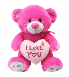 "8"" Inch Teddy Bear with Heart Pillow"
