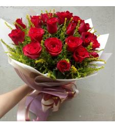 send 2 dozen red roses in hand bouquet to cebu