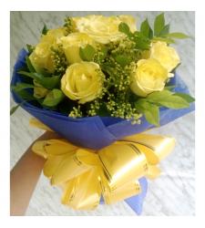 send 12 stems yellow roses bouquet to cebu