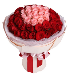 36 Multi Color Roses in Bouquet