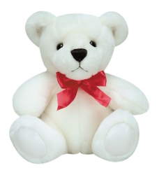 "8"" Inch Small Size White Teddy Bear"